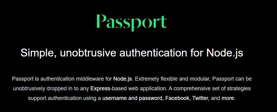Otentikasi praktis dengan Passport JS